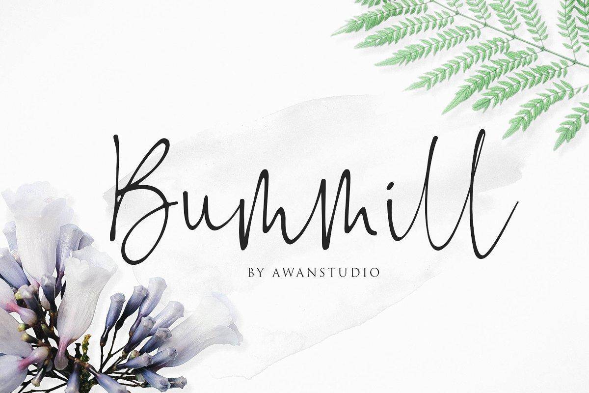 https://fontclarity.com/wp-content/uploads/2019/09/bummill-signature-font-download-0.jpg Free Download