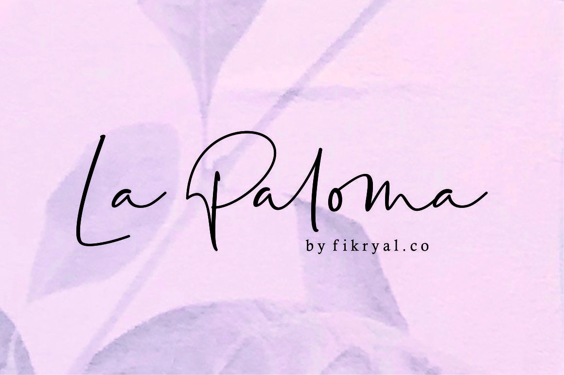 https://fontclarity.com/wp-content/uploads/2019/09/la-paloma-handwritten-font-download-0.jpg Free Download